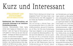 Aus der MT Medizintechnik - TÜV Rheinland Rubrik Kurz und Interessant Ausgabe I / 2016 Ganzen Artikel lesen
