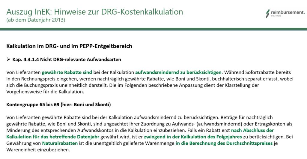 Dokumentationspflicht gewährter Rabatte an deutsche Krankenhäuser