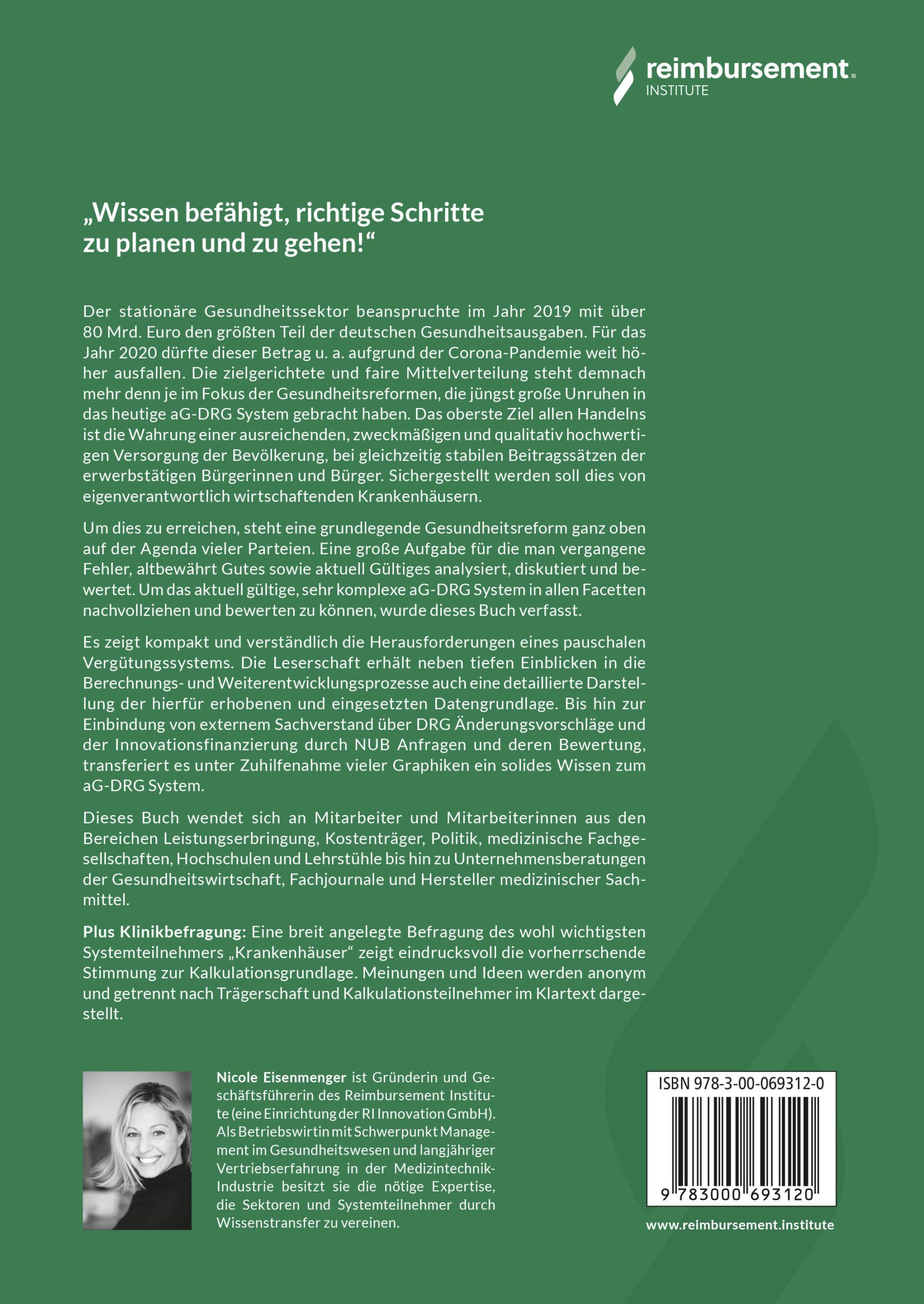 Nicole Eisenmenger - Buchautor - Das aG-DRG System