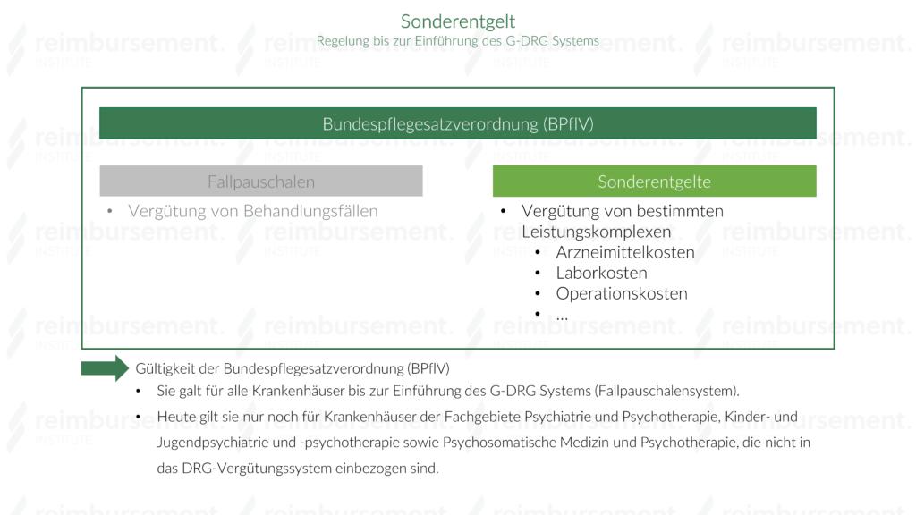 Sonderentgelt - Bundespflegesatzverordnung (BPflV)